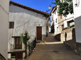 Alcala de la Selva. Pueblo de Teruel en Aragon (España) en la comarca de Gúdar-Javalambre