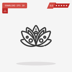 water lily vector icon
