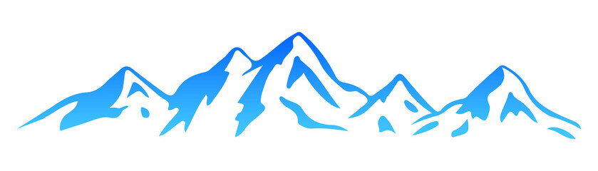 Silhouette  mountain – vector
