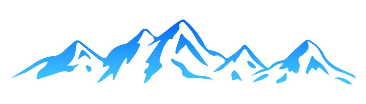 Silhouette  mountain – vector
