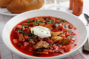 Russian beetroot soup