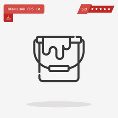 paint bucket vector icon