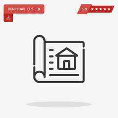 house sketch vector icon