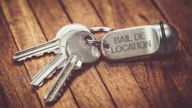 trousseau de clés : bail de location