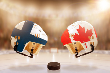 Famous Ice Hockey Rivalry Between Finland and Canada