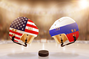 Famous Ice Hockey Rivalry Between Russia and USA