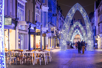 Molton street decorated for Christmas in London