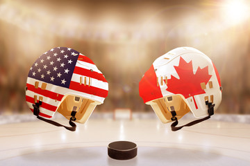 Famous Ice Hockey Rivalry Between USA and Canada