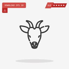 goat vector icon