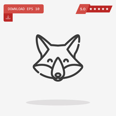 fox vector icon