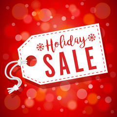Red Soft Focus Holiday Sale Tag Vector Horizontal Background 1