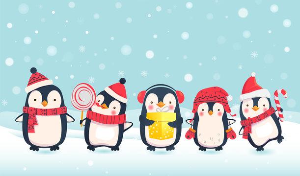 penguins cartoon illustration