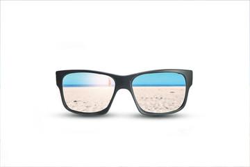 Black sunglasses isolate