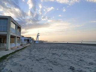 Costa y playa de Santa Pola en Alicante (Comunidad Valenciana, España)