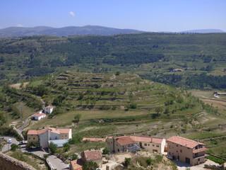 Paisaje y naturaleza en Morella. Pueblo con encanto de Castellon ( Comunidad Valenciana, España)