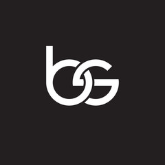 Initial lowercase letter bs, overlapping circle interlock logo, white color on black background