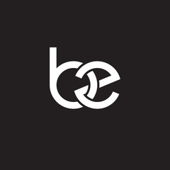 Initial lowercase letter bz, overlapping circle interlock logo, white color on black background