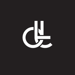 Initial lowercase letter dt, overlapping circle interlock logo, white color on black background