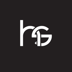 Initial lowercase letter hs, overlapping circle interlock logo, white color on black background