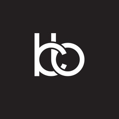 Initial lowercase letter kb, overlapping circle interlock logo, white color on black background