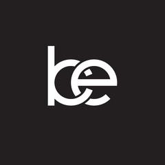 Initial lowercase letter ke, overlapping circle interlock logo, white color on black background