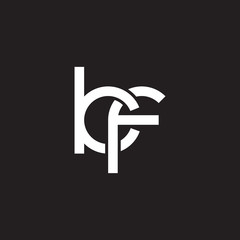 Initial lowercase letter kf, overlapping circle interlock logo, white color on black background