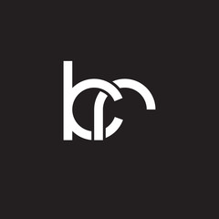 Initial lowercase letter kr, overlapping circle interlock logo, white color on black background