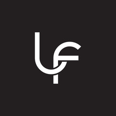 Initial lowercase letter lf, overlapping circle interlock logo, white color on black background