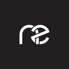 Initial lowercase letter nz, overlapping circle interlock logo, white color on black background