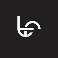 Initial lowercase letter tr, overlapping circle interlock logo, white color on black background