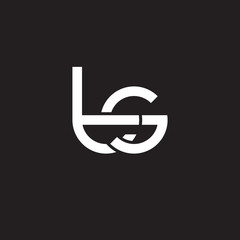 Initial lowercase letter ts, overlapping circle interlock logo, white color on black background