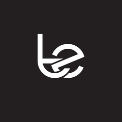 Initial lowercase letter tz, overlapping circle interlock logo, white color on black background