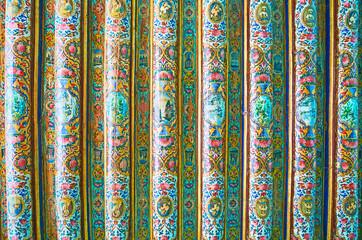 The timber ceiling in Qavam House, Shiraz, Iran