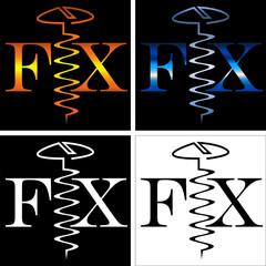 abstract inscription fix screw business logo