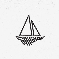 Sailing lettering