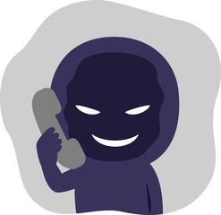 電話口でしゃべる不審人物