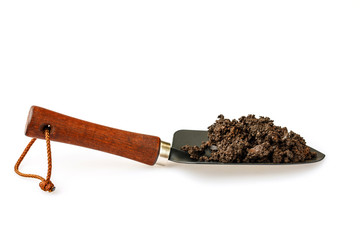 The trowel isolated on white background.