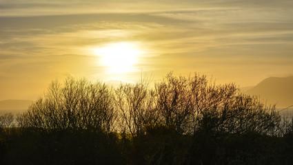 Sun setting over Bantry Bay