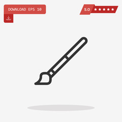paint brush vector icon