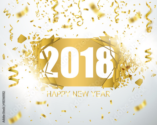 happy new year 2018 holiday greeting card card template for your design vector
