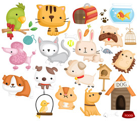 Pet Animal Vector Set