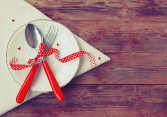 valentine day, invitation for romantic dinner