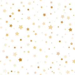 Seamless pattern with gold stars.