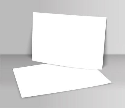 Poster blank bi fold brochure mockup cover template