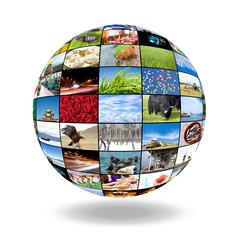 3D sphere of photos
