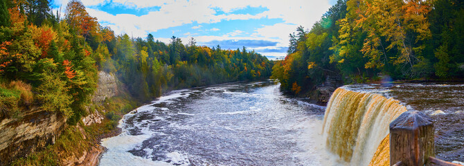 Printed roller blinds Waterfalls Panorama Tahquamenon Falls Waterfall Wide Angle