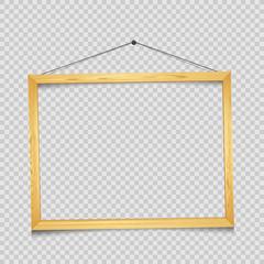 Wooden rectangular frame transparent