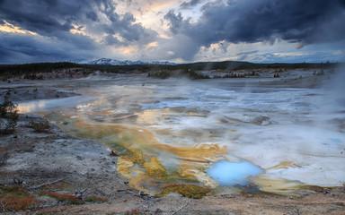 Norris basin in Yellowstone NP