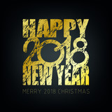 happy new year 2018 vector background new year and merry christmas 2018 theme