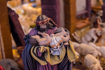 Joseph and child Bethlehem figure